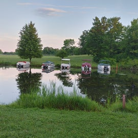 Boaters can rent a boat slip/dock on the lake from the park.