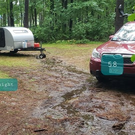 Lake Dennison Site 59 after rain