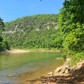 Buffalo National River take out at Spring Creek.