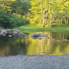 river at campsite