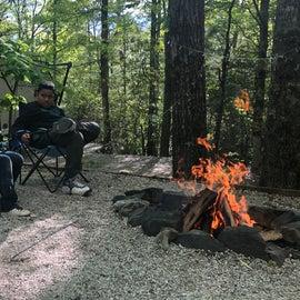 Grandsons around the camp fire ❤️