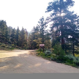 doctor park trailhead parking at far end of CG