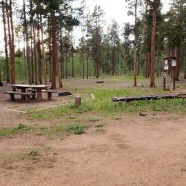 Tables, fire rings at all sites
