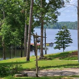 Cotile lake from Hidden treasure rv resort