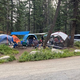 A look at campsite two, right on the corner. Lots of room for multiple tents in this site.