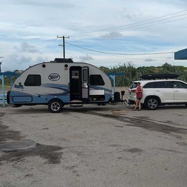 One of the 30-amp, smaller, RV sites