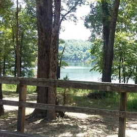 The lake from a campsite