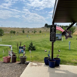 tent sites are in a great little grassy area