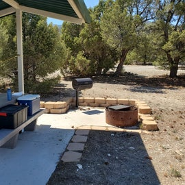 fire pit and accessible BBQ