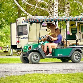 Cindy Bear touring the park