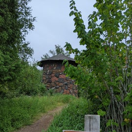 CCC water tower, one if several structures still standing.