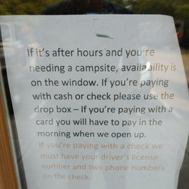 This park still allows for paying with cash or check.