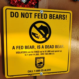 We didn't see any bears but did keep our food contained.