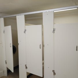 4 stalls in the Clifty campground bathroom.  None of them were ADA sized for those who need a larger stall.