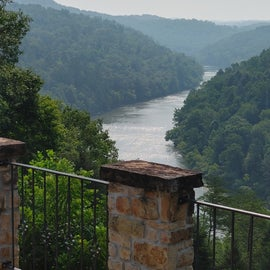 View behind the lodge at Cumberland Falls State Park.