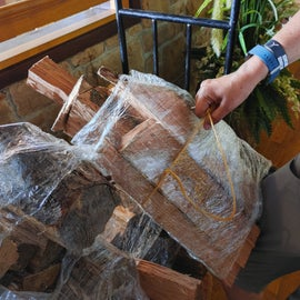 Example of their firewood bundle at the lodge. The wood was a good quality and burned nicely.