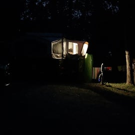 full moon over our camper.