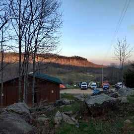 Bathrooms/Showers (bottom left) & Canyon Overlook @ Sunrise
