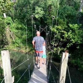 Suspension Bridge on the hiking trail.