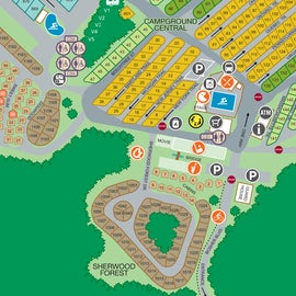 Campground map showing our site.