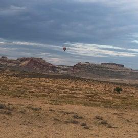 woke up to hot air balloon