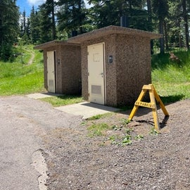 Vault toilets for walk in tent sites