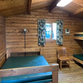 Cabin interior - beds