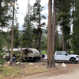 campsite 5 has a long area to park and lots of shade