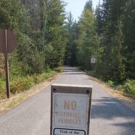 Trails of the Coeur d'Alene, Rails to Trails goes by the State Park