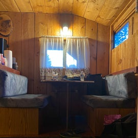 Covered Bridge Cabin Dining Area