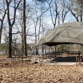 Martinak State Park picnic shelter