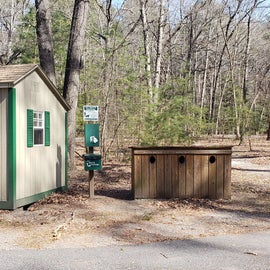 firewood for sale and recycling station