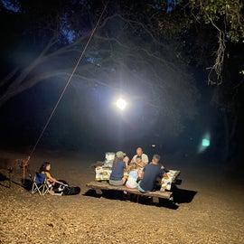 Bring lights. It gets dark! No campfires allowed!