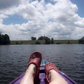 On the lake - kayaking