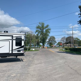 Entrance to campground - walk across the street to Seneca Lake