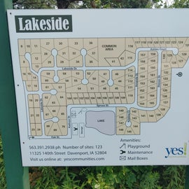 site map with adjacent mobile home park