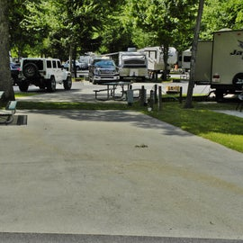 Many of the RV sites had concrete pads.
