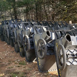 Carts to take your gear to your campsite