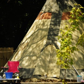Staying in a tipi with grandkids is exciting, especially if they are used to you telling stories of the Old West.