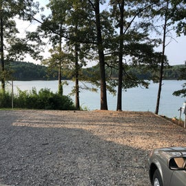 Site 32 overlooking the water