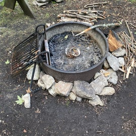 Firepit available at site 7