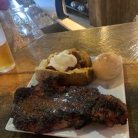 Steak at Outlaw Saloon