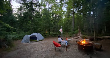 Loon Call Campsite on Grand Island