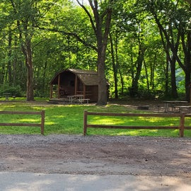 nice community of cabins for an extended family.