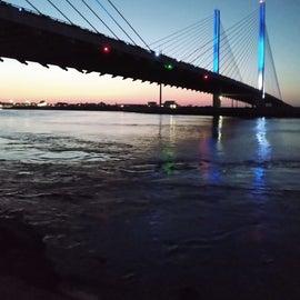 the bridge in the evening