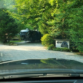 pulling into the campground