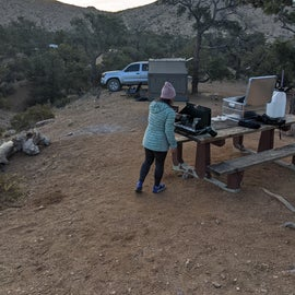 The picnic table at site24