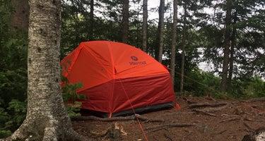 East Lake Agnes Campsites