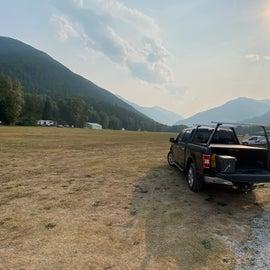 Backside of campsite 34