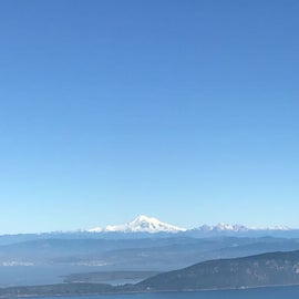 View of Mt Baker from Mt Consitution